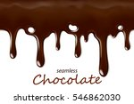 seamless dripping chocolate... | Shutterstock .eps vector #546862030
