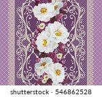 flower border  pattern ... | Shutterstock . vector #546862528