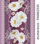 flower border  pattern ... | Shutterstock . vector #546862534