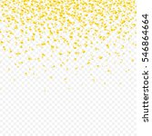 falling tiny golden and bright... | Shutterstock .eps vector #546864664