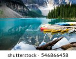 beautiful moraine lake in banff ... | Shutterstock . vector #546866458