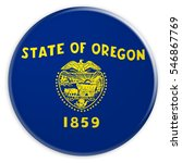 us state button  oregon flag... | Shutterstock . vector #546867769