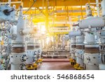 safety valves on offshore oil... | Shutterstock . vector #546868654