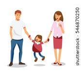happy family | Shutterstock .eps vector #546870250