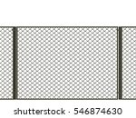 3d illustration. net fence on a ... | Shutterstock . vector #546874630