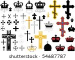 different cross collection... | Shutterstock .eps vector #54687787
