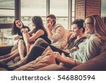 group of multi ethnic young... | Shutterstock . vector #546880594