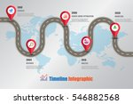 design template  road map... | Shutterstock .eps vector #546882568