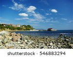 nesebar resort at the black sea ... | Shutterstock . vector #546883294