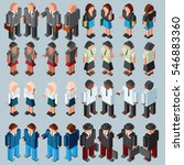 3d isometric businessman and... | Shutterstock .eps vector #546883360