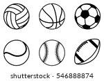 a super set of sport balls... | Shutterstock .eps vector #546888874