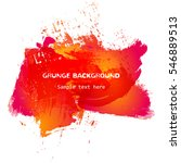 red and orange grunge... | Shutterstock .eps vector #546889513