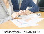 business adviser analyzing... | Shutterstock . vector #546891310