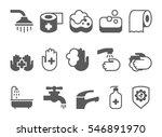 hygiene icons set | Shutterstock .eps vector #546891970