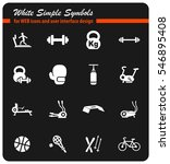 sport equipment white simple