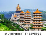 view of pagodas and buddha... | Shutterstock . vector #546895993