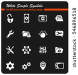 settings white simple symbols...   Shutterstock .eps vector #546896518