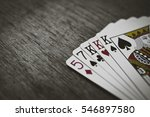 poker hands   three of a kind.... | Shutterstock . vector #546897580