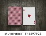 ace of hearts play cards  and a ... | Shutterstock . vector #546897928