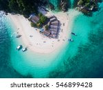 Aerial View Of Small Isolated...