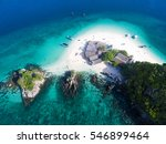 top view of small isolated... | Shutterstock . vector #546899464