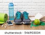fitness healthy concept sneaker ... | Shutterstock . vector #546903034