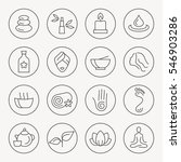spa thin line icon set | Shutterstock .eps vector #546903286