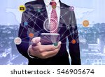 mobile apps network concept... | Shutterstock . vector #546905674