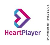 heart player ribbon symbol logo ... | Shutterstock .eps vector #546911776