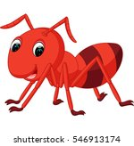 red ant cartoon | Shutterstock .eps vector #546913174