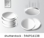 silver coins set isolated on... | Shutterstock .eps vector #546916138