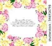 vintage delicate invitation... | Shutterstock . vector #546916798