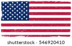 grunge usa flag.vector flag of... | Shutterstock .eps vector #546920410