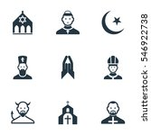 set of 9 editable dyne icons....