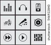 set of 9 editable sound icons....