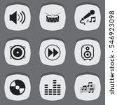 set of 9 editable mp3 icons....