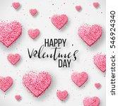 luxury elegant happy valentine... | Shutterstock .eps vector #546924340