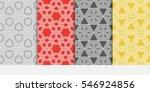set of geometric shape floral... | Shutterstock .eps vector #546924856