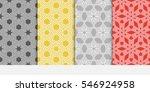 set of geometric shape floral... | Shutterstock .eps vector #546924958