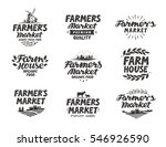 farmers market  vector logo.... | Shutterstock .eps vector #546926590