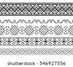 set of black ornate borders.... | Shutterstock .eps vector #546927556