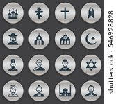 set of 16 editable dyne icons....