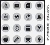 set of 16 editable knowledge... | Shutterstock .eps vector #546930493