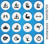 set of 16 editable fitness...