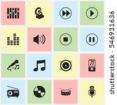 set of 16 editable mp3 icons....