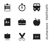 set of 9 editable school icons. ... | Shutterstock .eps vector #546931693