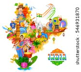 illustration of india... | Shutterstock .eps vector #546931870