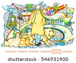 illustration of collage showing ... | Shutterstock .eps vector #546931900