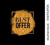 raster copy best offer gold... | Shutterstock . vector #546933934