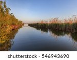 beautiful sunrise in the danube ... | Shutterstock . vector #546943690